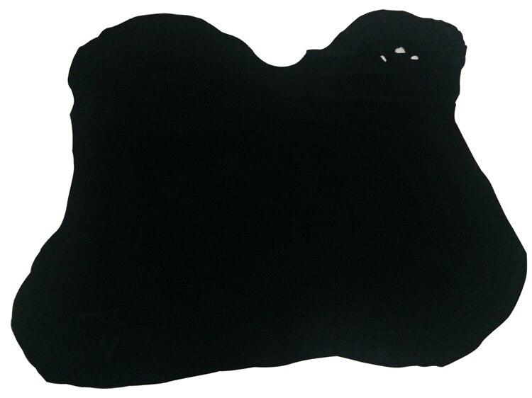 Venta de cuero de vaca de ante genuino negro por pieza entera - 3