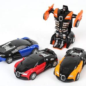 Image 5 - שינוי צעצוע רכב התנגשות הפיכת רובוט דגם מכונית צעצוע מיני עיוות מכונית אינרציה צעצוע הטוב ביותר לילדים ילד מתנה