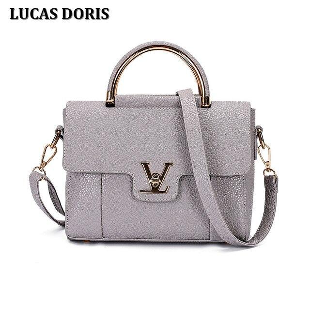 11a6e31024 2016 Luxury Designer Women Handbag V Letter Saffiano Handbags Tote Bag  Ladies Leather Women s Pouch Shoulder bag Bolsa Sac Femme