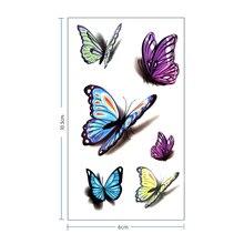 3D Butterfly Waterproof Temporary Tattoo