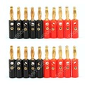 Hot Sale 20 Pcs High Quality 4mm Banana Plug Gold Plated Red Black Length 40mm Connector