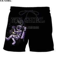 YX GIRL 2018 Naujos vasaros juokingi šortai Vyrai / Moterys Mada Šortai Astronautas Spausdinti 3d šortai plius dydis S-5XL Drop shipping