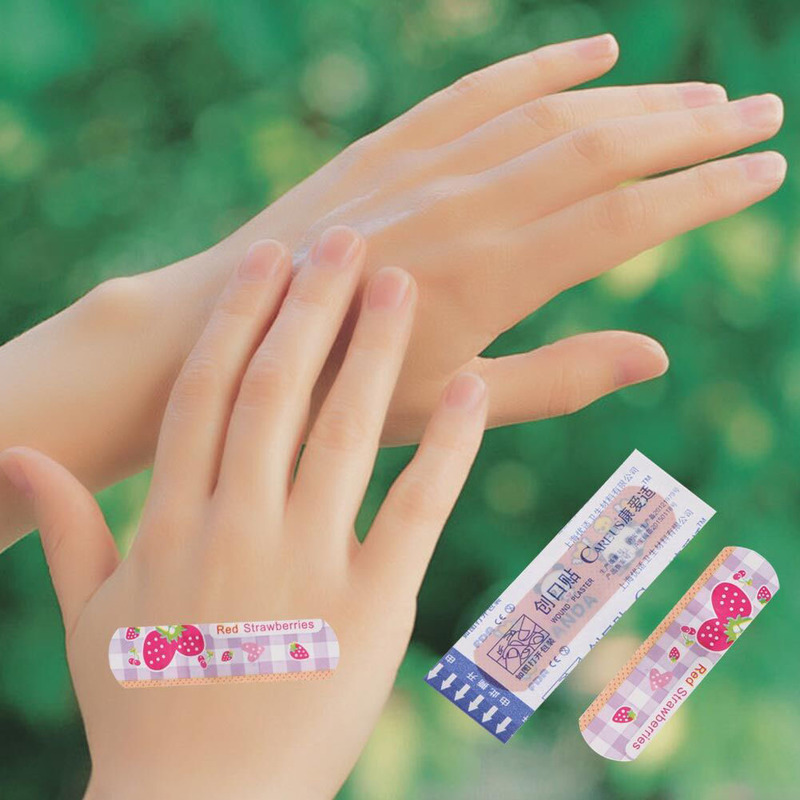 100PCS Waterproof Breathable Cute Cartoon Band Aid Hemostasis Adhesive Bandages First Aid Emergency Kit Kids Children Security