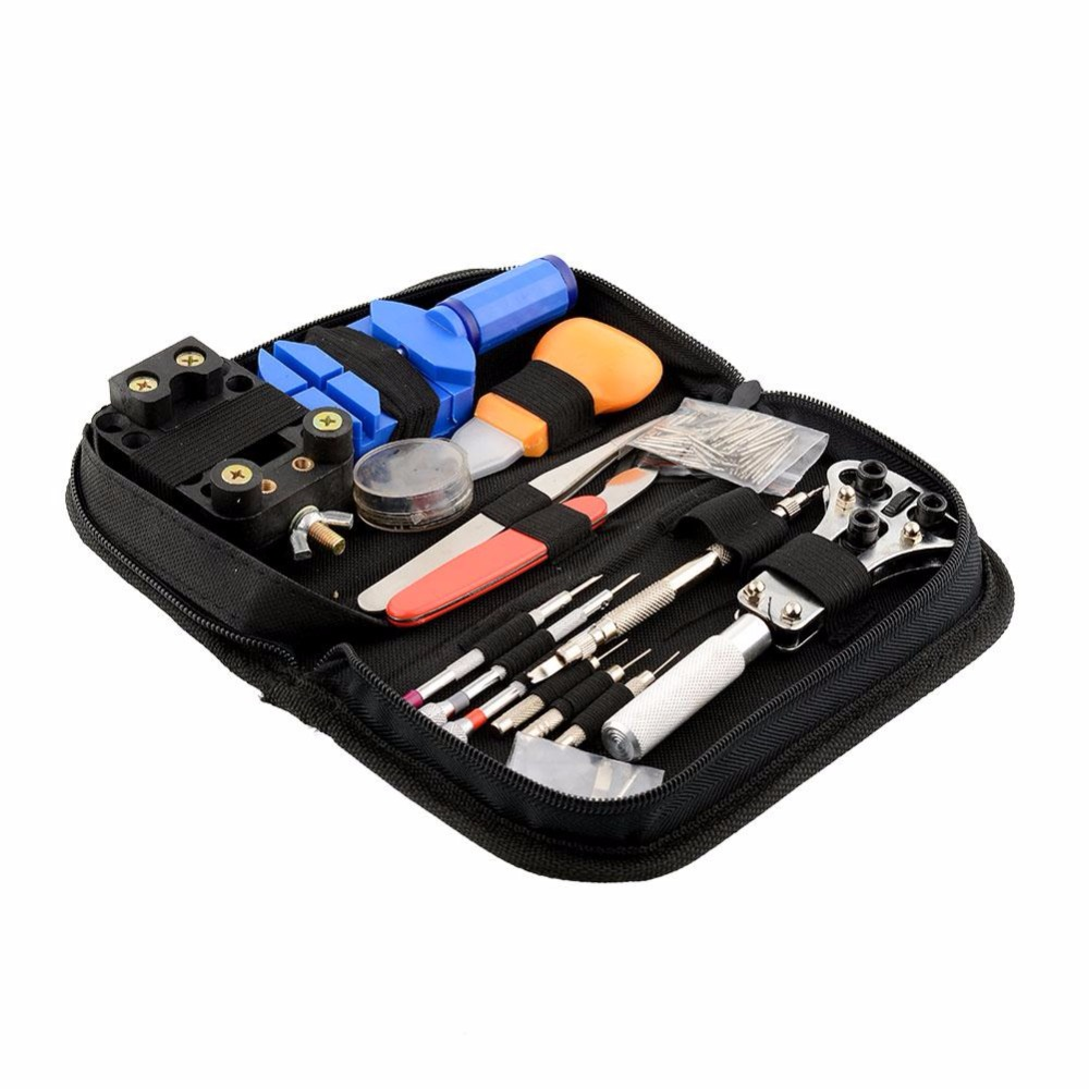 Portable 144Pcs Watchmaker Watch Repair Repairing Tools Kit Case Remover Opener Bar Set Convenience Brand New 16pcs professional watch repair kit for watchmaker