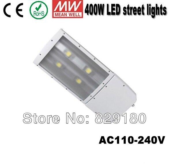 Уличные фонари 400 Вт кри из светодиодов, 110 В 220 В 240 В наружное освещение ip65, Водитель MEANWELL света дороги
