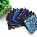QXY мужская мода карманные площадь тканые dot галстуки галстук полиэстер шелковый пейсли цветок банкетный мужчины галстук платок F090