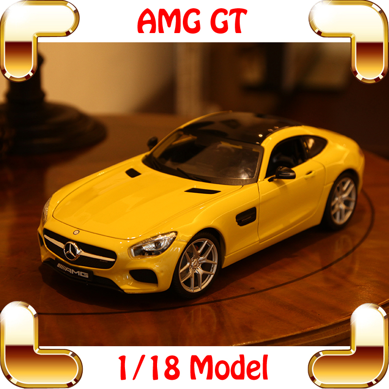 New Year Gift AMG 1/18 Metal Model Sports Car GT Racing Type Collection Alloy Decoration Die-cast Toys Simulation Scale Models