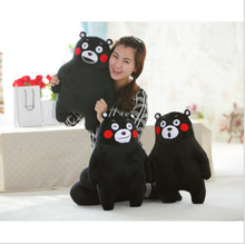 Shipping Xiongben County mascot KUMAMON stay adorable plush doll doll pillow pillow black sauce