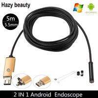 6LED MINI Camera Mobile Phone Mirco Usb Endoscope Mini USB Android Phone Endoscope Camera 5M HD