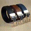 2016 nueva marca para hombre cinturones Cinturones de Moda de Lujo Para Hombre H Hebilla de Correa Masculina Originales Vaqueros Ocasionales de La Correa