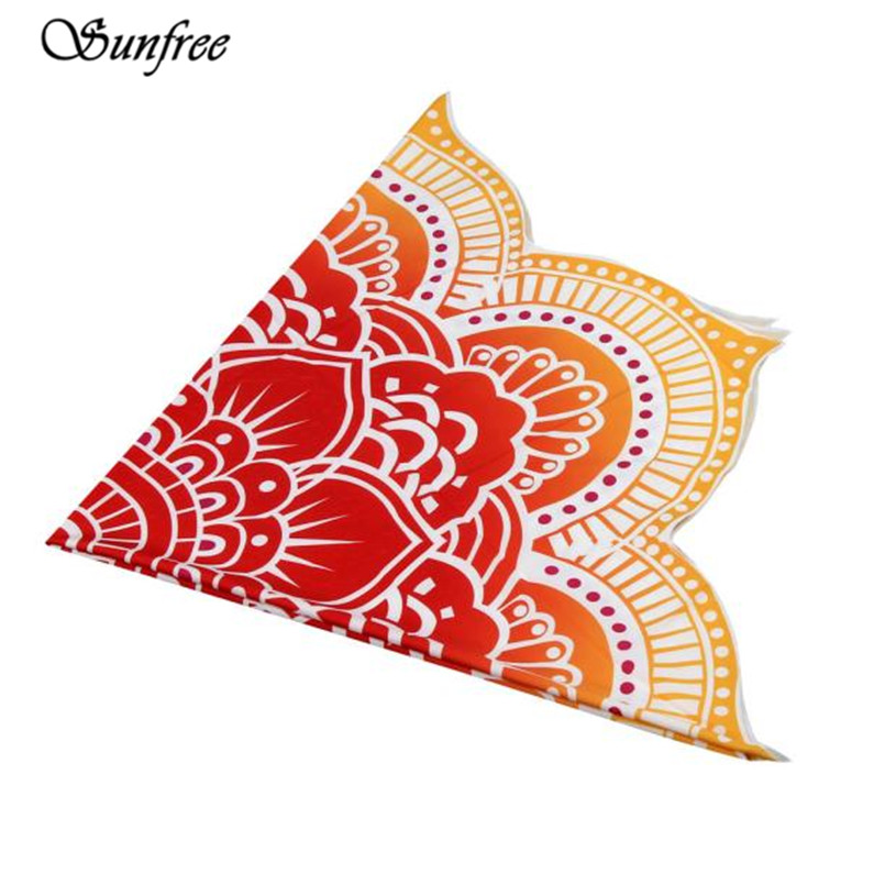 Sunfree 2017 NEW HOT SALE Round Beach Pool Home Shower Towel Blanket Table Cloth Mat Brand New High Quality Nov 10