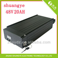 Shuangye 48V20AH Electric Bike Lipolymer Rear Pack Battery With Charger And BMS