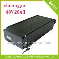 Shuangye 48v20ah電動自転車lipolymer リア パック バッテリー充電器と bms -