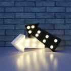 9 Leds 3D Marquee Night Light Arrow lamp for christams Decoration led Letters Vintage Marquee Lights battery operated lights