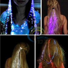 5Pcs Colorful Blinking Hair Clip LED Glow Filaments Luminous Clip Braid Party Ball Concert Clubs Flashing Light Novelty Light(China)