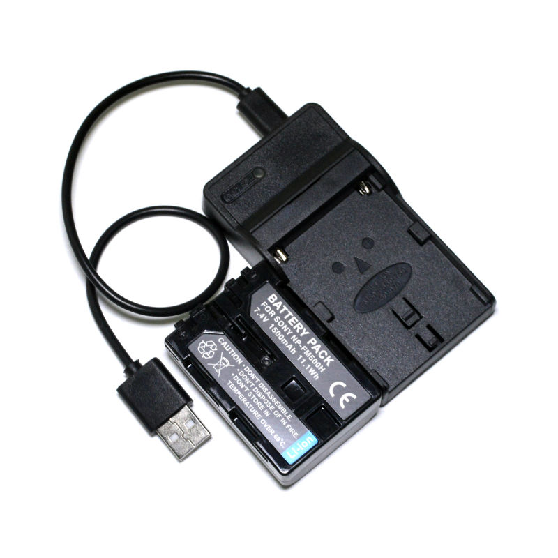 NP-FM500H Battery + USB Charger For Sony DSLR-A900 A850 A700 A580 A560 A550 ILCA-77M2 99M2 SLT-A99 A77 II A57 A58 A65 Camera