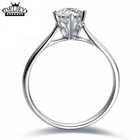 Free Shipping 100 925 Sterling Silver Wedding Rings 5mm CZ Diamond For Women Anniversary Engagement Solid