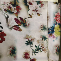 France Imported Fashion Jacquard Fabric Flowers print 3D soft fabric for Women dress, home decoration by meter
