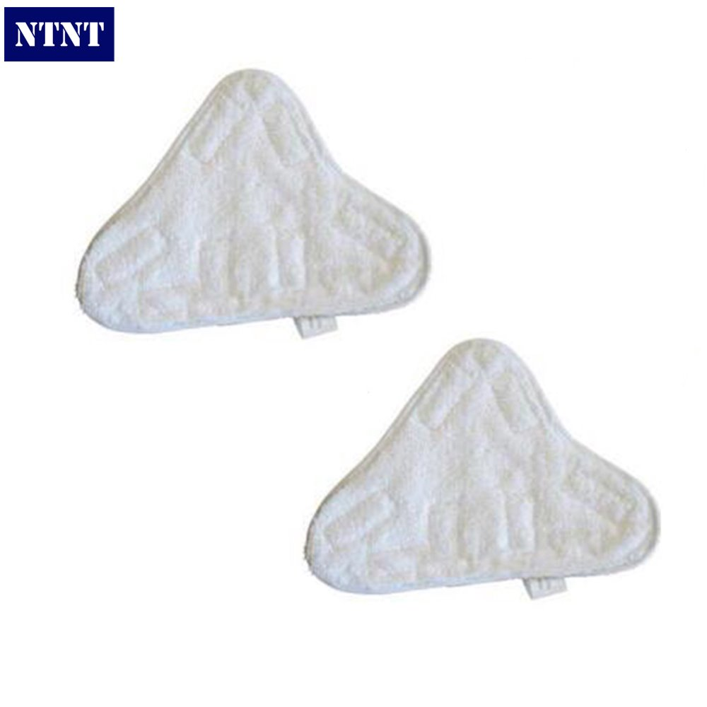 NTNT Free ship 2 QTY velcro For H2O White Washable Microfibre Cloth Steam Clean Mop x5 Pads Covers стоимость