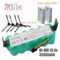 7pcs NI-MH 14.4V High quality 3500mAh FOR panda X500 Battery for Ecovacs Mirror CR120 Vacuum cleaner Dibea X500 X580 X600battery