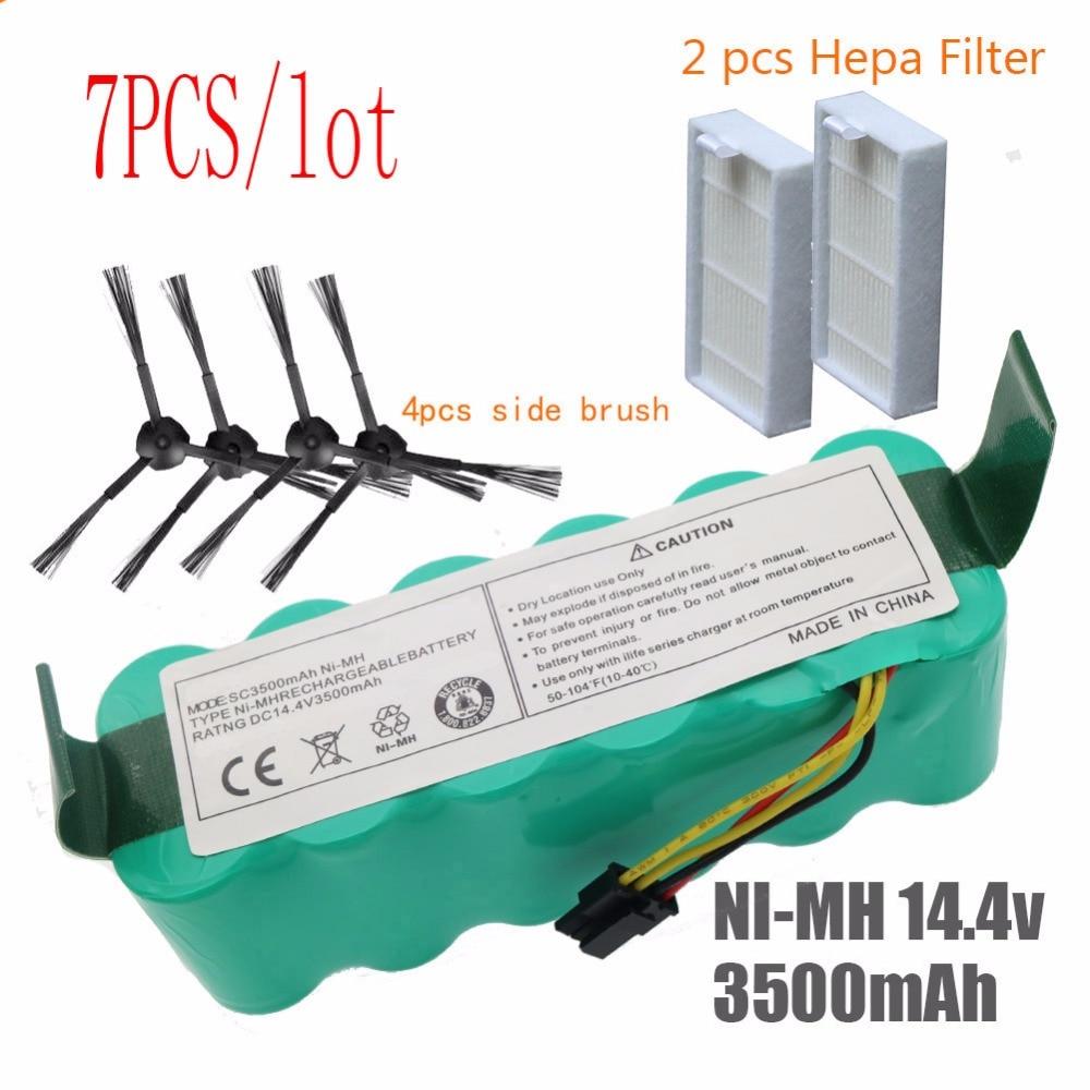 цена 7pcs NI-MH 14.4V High quality 3500mAh FOR panda X500 Battery for Ecovacs Mirror CR120 Vacuum cleaner Dibea X500 X580 X600battery