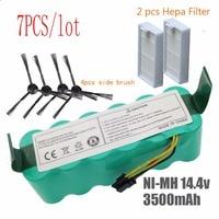 7pcs NI MH 14.4V High quality 3500mAh FOR panda X500 Battery for Ecovacs Mirror CR120 Vacuum cleaner Dibea X500 X580 X600battery