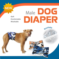 Namsan Washable Male Dog Diapers Physiological Pant Diaper Washable Reusable Puppy Pet Dog Belly Wrap Underwear