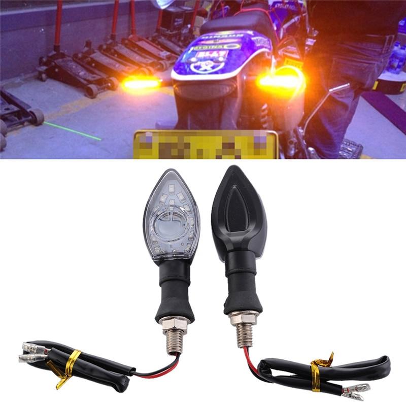 2Pcs Universal Motosiklet LED flashing Velosiped Dönüş siqnal - Avtomobil işıqları - Fotoqrafiya 1