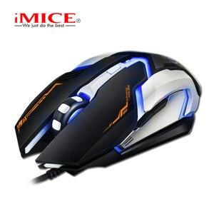 Image 4 - IMICE V6 السلكية الألعاب ماوس usb ماوس بصري 6 أزرار جهاز كمبيوتر شخصي ماوس ألعاب الفئران 4800 ديسيبل متوحد الخواص ل Dota 2 لول لعبة