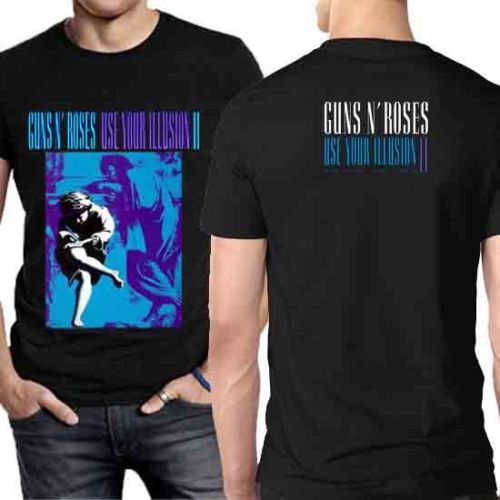 Gildan Guns & Roses Use Your Illusion II Tee Tshirt For Men [Two Sides T-Shirt]