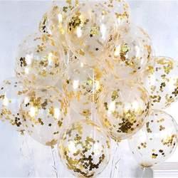 10 шт./лот ясно воздушные шары Gold Star конфетти из фольги прозрачные воздушные шары с днем рождения Baby Shower Свадебная вечеринка украшения