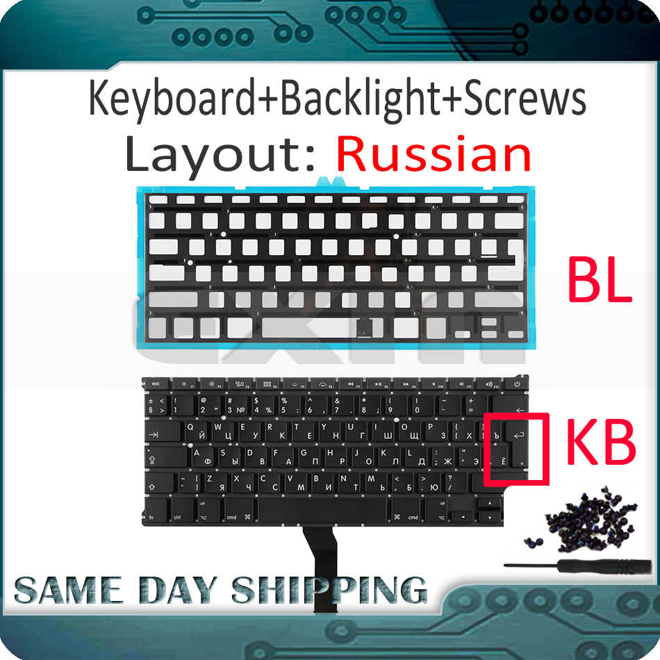 Replacement Notebook Keyboard Compatible for MacBook Air A1369 A1466 13.3 Inch perfk Laptop Keyboard with Backlight US Layout 2011-2015