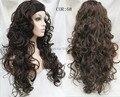 Новая мода Дамы 3/4 Парик С оголовьем Длинные вьющиеся Синтетический Волос Половина Парик бесплатная доставка много цветов