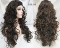 New fashion Ladies 3/4 Wig With headband Long curly Synthetic Hair Half Wig free shipping many colors
