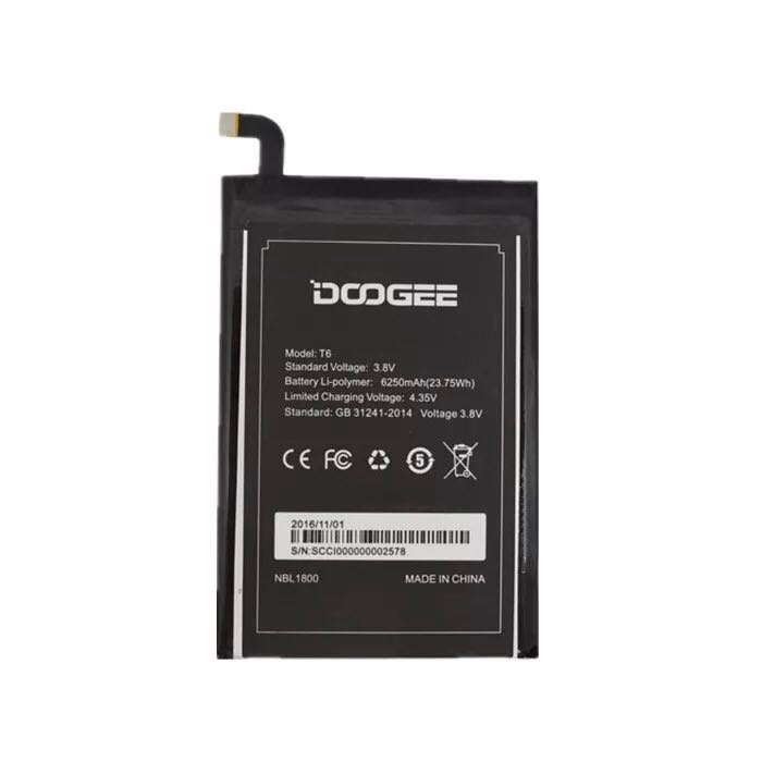 Homtom HT6 Battery 6250mAh New Replacement accessory accumulators For Homtom HT6 DOOGEE T6 Cell Phone