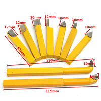 9pcs New Alloy Carbide Brazed Tipped Lathe Tools Set Mayitr 8 8mm Shank Turning Milling Tool