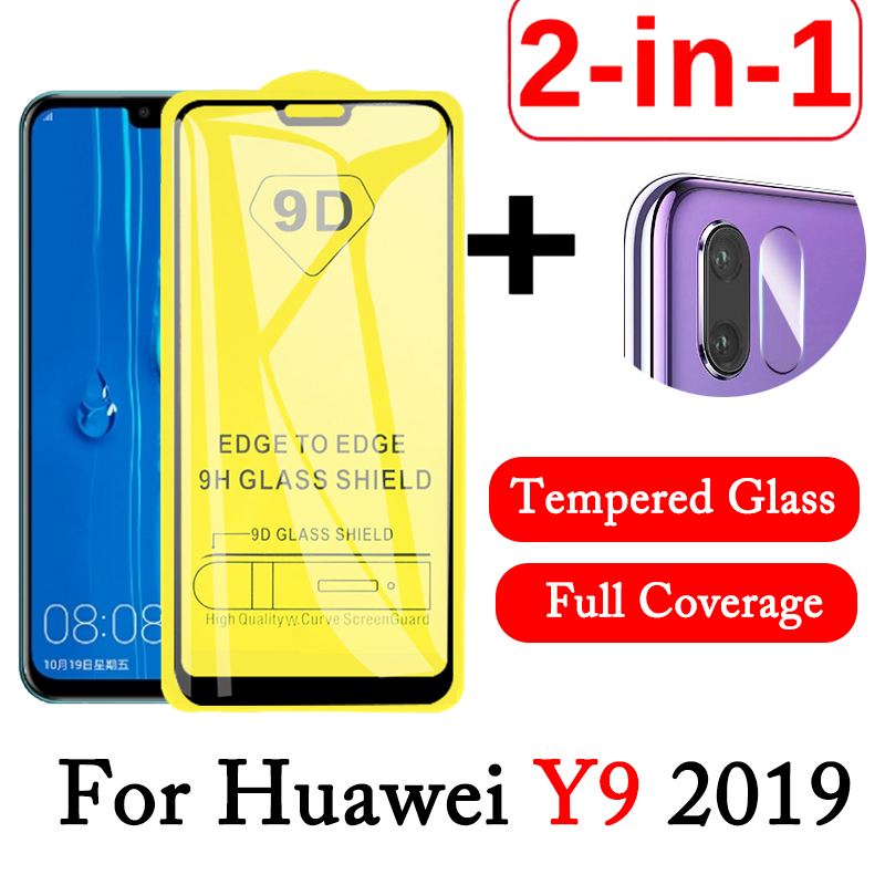 2-in-1 9D Lens Protective Glass For Huawei Y9 2019 Tempered Glass Screen Protector HuaweiY9 Camera Lens Film Huwai Y 9 2019 Glas