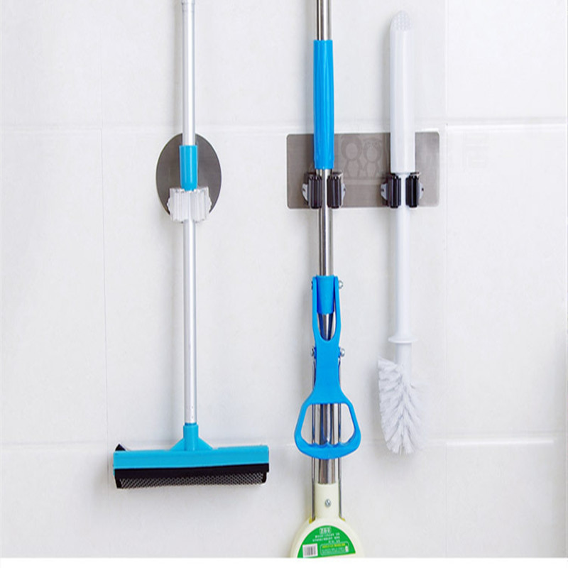 Hanging Pipe Hooks Wall Mounted Mop Organizer Holder Brush Broom Hanger Storage Rack Kitchen Tool Wall Housekeeper Accessories