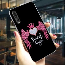 Wing Angel Girls Hard Case for Huawei Y6 2018 Shockproof Phone Cover Honor 9i 10 play note10 Covers Back