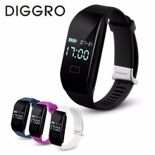 Diggro H3 Smart Bracelet Heart Rate Bluetooth 4.0 fitness bracelet Pedometer Calorie Wristband Smart Band  for Android IOS