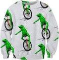 Sping Outono Hoodies Suores Crewneck Aqui Vêm Dat Boi O-pescoço Branco múltipla Impresso Suores Pullover Camisa Outerwear