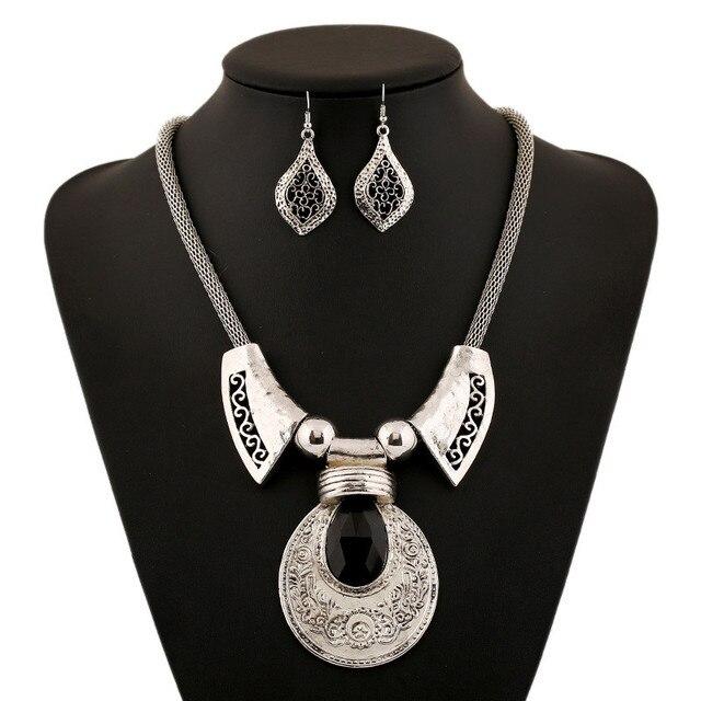 Винтажное большое ожерелье с подвеской из камня lzhlq массивное