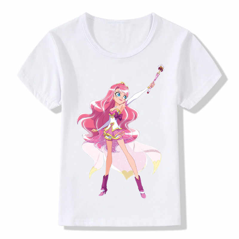 d48ee45e20 ... Children's LoliRock Magical Girl Dancing Funny T-shirt Boys and Girls  Anime Prints Round Neck
