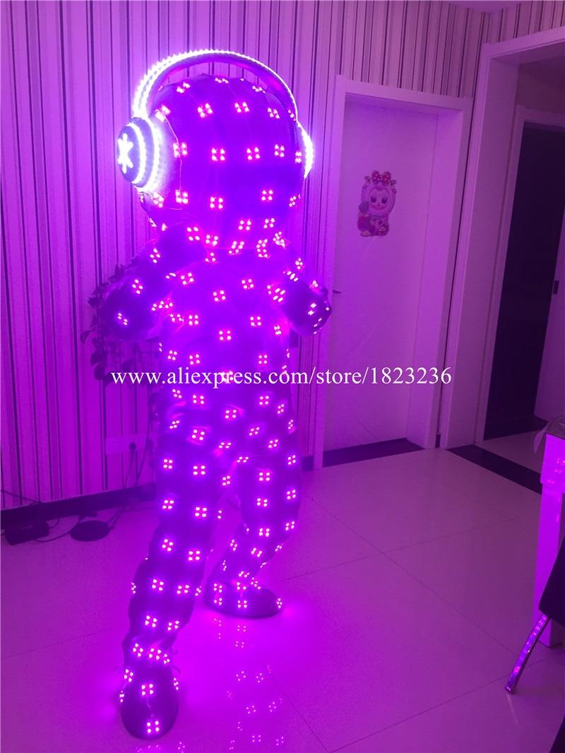 Volle Farben LED blinkend leuchtend leuchten Kostüm Kleidung - Partyartikel und Dekoration - Foto 6