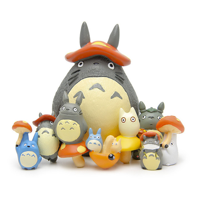 9pcs lot Big totoro figurines toy set 2016 New kawaii Japanese anime