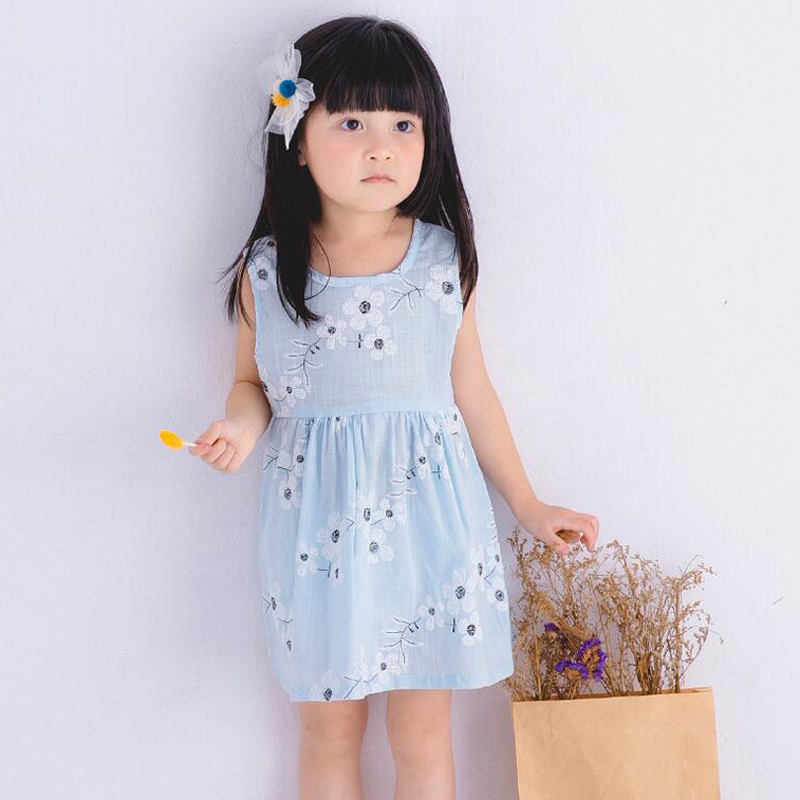 Summer Style Cute Floral Printed Baby Girls Dresses Sleeveless Princess Dress Costume Kids Clothes Tutu Vestido Infantil XL119
