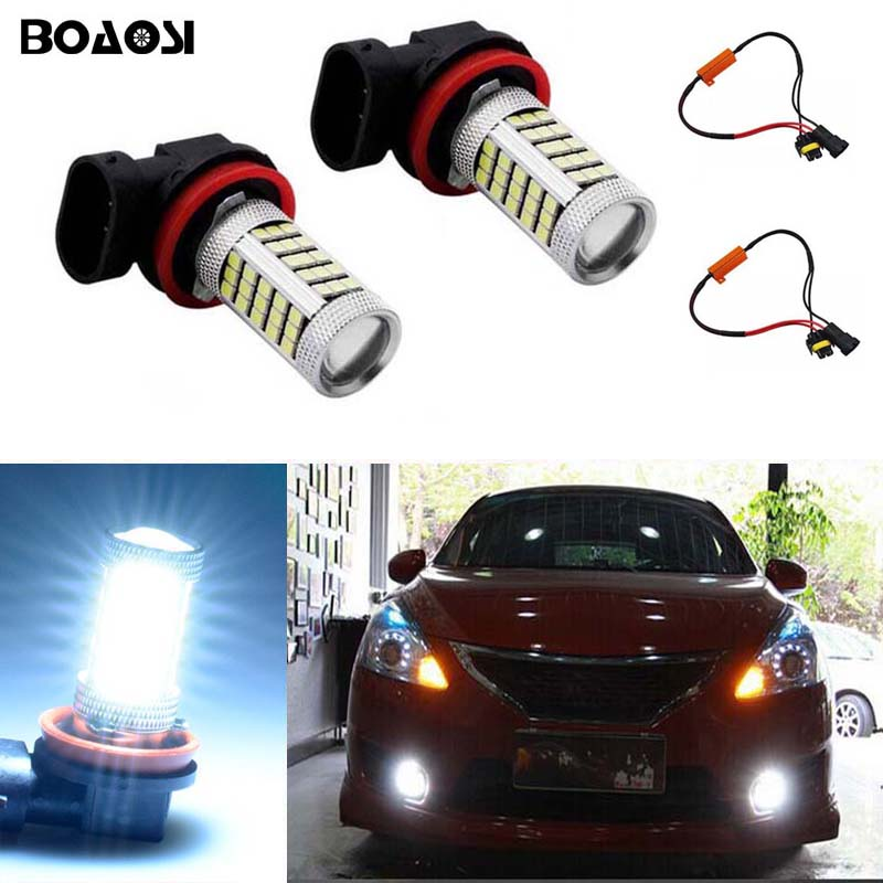 BOAOSI 2x 9006/HB4 Car LED Light Bulb Auto Fog Light Lamps No Error For Lexus GS300 LS430 IS200 RX300 Old Regal boaosi 1x 9006 hb4 car canbus bulbs reflector mirror design fog lights no error for vw golf 6 mk6 scirocco t5 transporter