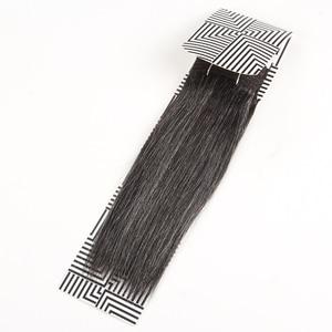 Image 4 - Sleek Colorful Hair Brazilian Hair Weave Bundles Straight Hair bundles #44 #34 #280 51# Piano Gray Remy Human Hair Extensions
