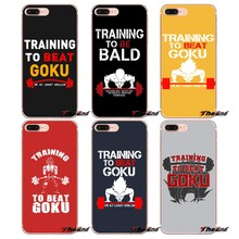 For iPhone X 4 4S 5 5S 5C SE 6 6S 7 8 Plus Samsung Galaxy J1 J3 J5 J7 A3 A5 2016 2017 Training to Beat Goku Or Krillin TPU Case(China)