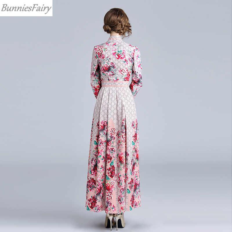 Банниесфеи, вдохновленная знаменитостями, 2018 осень, элегантная женская маленькая красная Цветочная клетчатая Цветочная печать, длинная Макси лента для платья носовая галстук